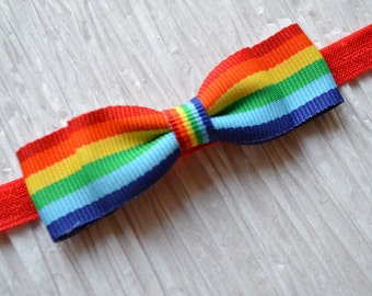 Rainbow Bow Headband. Rainbow Striped Bow Headband. Baby Girl Hair Accessories. Girls Hair Accessories. Bow Headband. Baby Girls. Rainbow