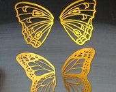 Brass Butterfly Wings, Stained Glass Components, Collage, Supply for Stained Glass, Set of Two Butterfly Wings, Brass Butterfly Filigree