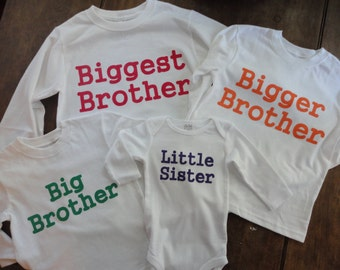 Sibling Shirt Sets - Toddler and Infant Sizes