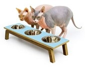 CLEARANCE ~ Last One! ~ READY to SHIP ~ Mid Century Modern Elevated Pet Feeder // Six Retro Colors // Cat & Dog Dishes