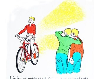1963 Elementary School Science Chart - 18 x 24 Poster - Illustrating Light & Fire