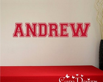 Personalized Name, Custom Name Vinyl wall decal sticker, nursery, kids & teens room, removable decals stickers