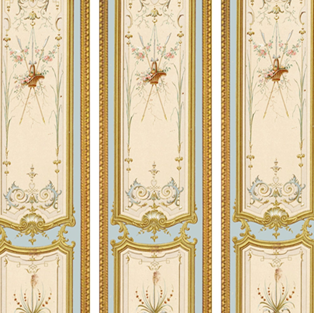 Victorian Wall Panels Wallpaper 1 12th Or 1 24th Scale 04