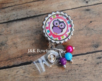 Owl Retractable Badge Reel