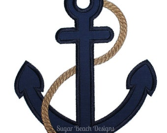 Anchor - Machine Applique Embroidery Design - 4 Sizes (00714)