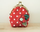 Christmas Special // Coin Purse // Flower  // Red