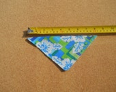 Extra Small Dog Bandana Blue and Green Hawaiian Fabric*