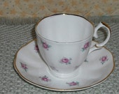 Clearance Vintage Jason Bone China England JSN2 Rose Pattern Teacup Saucer Collection Collectible Retro Home Kitchen Dining