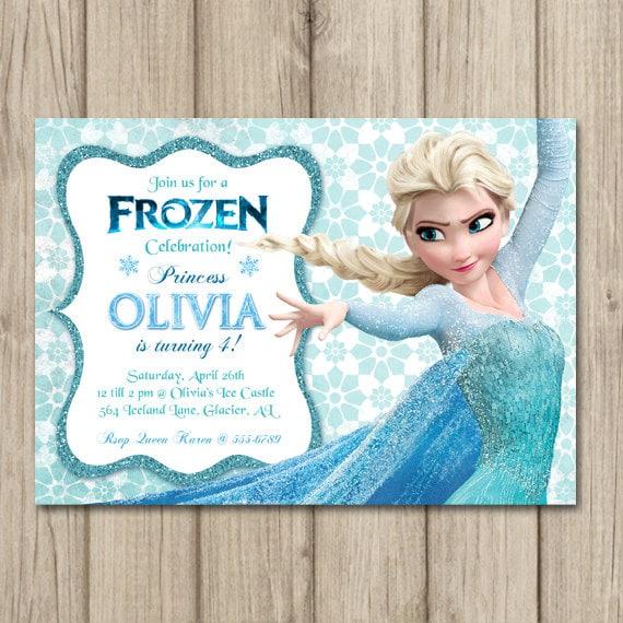 frozen birthday invitation elsa invitation girl frozen, Birthday invitations