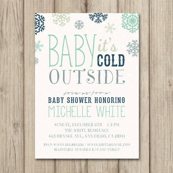 similar to winter baby shower invitation baby it 39 s cold outside