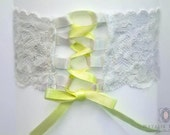 Wedding Garter/ Corset Style Garter/ Customisable Bow Garter SINGLE