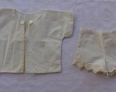 Doll Clothing Bloomers Jacket Repurpose,Salvage, Mixed Media, Destash, Lot of Vintage Doll Items, As Is