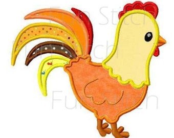 Rooster applique machine embroidery design instant download