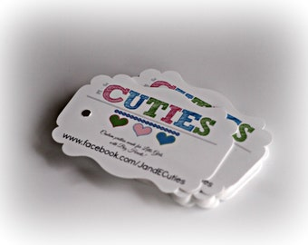 Custom Tags Cupcake Toppers Hang Tag Recipe Cards Favor Tags or Custom Sew in Labels