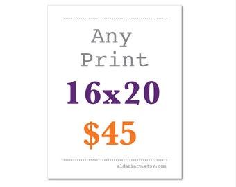 any print 16x20 size