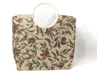 XL Vintage Tapestry Tote
