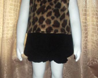 Ready To Ship Flintstones Pebbles Cheetah Leopard Cave Girl Halloween Costume Set Boutique 24M/2T PAGEANT