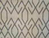 ZOE ZINK/gray Ikat designer, drapery/bedding/upholstery fabric