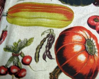 Vegetable Garden  screenprint fabric