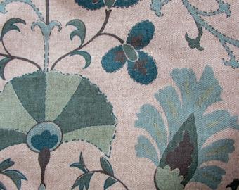 CALYPSO SEAFOAM  Floral designer/decorator/drapery/bedding/upholstery fabric