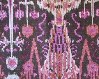 BOMBAY RASPBERRY designer, drapery/bedding/upholstery ikat fabric