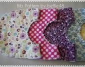 PATTERN, Baby Rag Bib Pattern Tutorial, pdf file, Fast and Fun