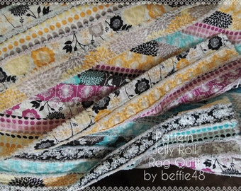 Jelly Roll Rag Quilt 2  Pattern Tutorial, Easy to Make, pdf