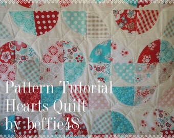 Disappearing Heart Quilt Pattern, Make with Layer Cakes