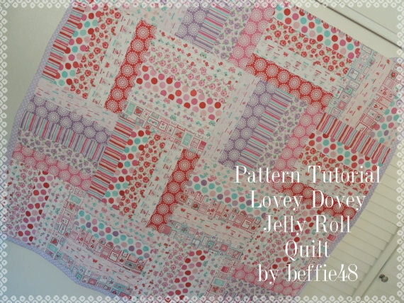 Super Simple Jelly Roll Lovey Dovey Baby Quilt Pattern By