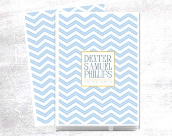 Baby Memory Book // Modern Baby Book // Personalized // Baby Book // Personalized Baby Book // Chevron // Blue