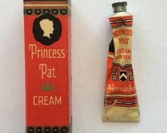 Vintage Princess Pat Skin Cream Skin Food Tube Trial Size 1920s 1930s