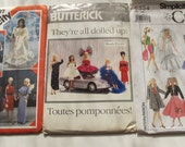 3 Fashion Doll Patterns Sewing Clothes Barbie