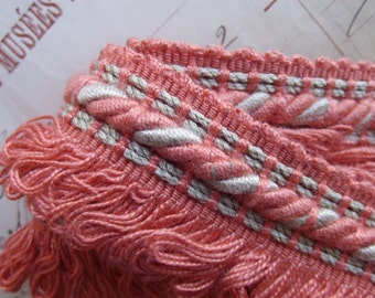 Beautiful French Fringe Coral and Taupe Ultramod Paris