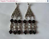 FINAL SALE Garnet Red Swarovski Love Valentine Chandelier Earrings