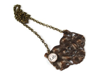 Will ship 20th August - Kate Bush Necklace Bronze - LILY - Ltd Ed - Etsy uk