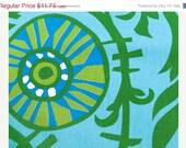 Closing Shop Home Dec Fabric Yardage - Suzani Vine - Grass Green, Blue, Turquoise Premeir Prints -  - 1 Yard