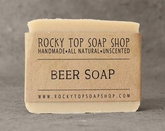 Beer Soap - All-in-One Soap, Men's Soap, Facial Soap, Hand Soap, Body Soap, Shampoo bar, Vegan Soap, Unscented Soap