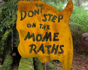 Don't Step on the Mome Raths Garden Stick Sign Alice in Wonderland