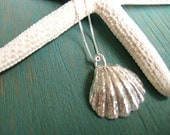 Sterling Silver Sunrise Shell Necklace,
