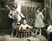 Bath Time-Vintage Photograph Digital Download