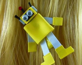 New - Plex Yo Gabba Gabba inspired Ribbon Sculpture Hair Clip ...Hair Accessory ...Hairbow