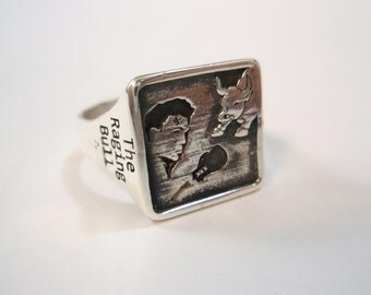 The Raging Bull Special Edition Jake Lamotta Boxing Silver Sterling 925 Ring