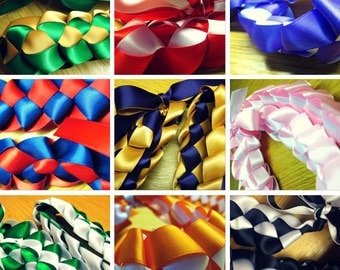 Ribbon Lei - Pick Your Colors - Special Events, Graduation, Weddings, Birthdays, Parties