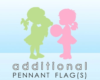 Add-On Individual Pennant Flags for Made-to-Match Printable Banner Order