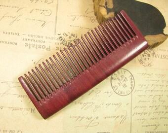 Small Purpleheart Wood Regular Tooth Hair Comb