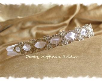 Bridal Headband, Wedding Headband, Rhinestone Bridal Headband, Crystal Wedding Headpiece, Jeweled Hair Piece, Bridal Headpiece, No. 5020HB