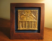 House Blessing with Guardian Angels, Handmade Desktop Sculpture