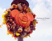 Disney Photography, Magic Kingdom, Disney Art, Pumpkin Mickey Mouse, Fall Colors, Dark Orange, Disney Print, Autumn Decor, Fall Decor