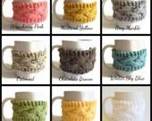 Coffee Cozies 2 for 20 Coffee Sleeve Cup Cozy Mug Cozy On Sale