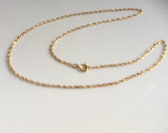 "16"" Gold Rope Chain  1/20   12K  GF"